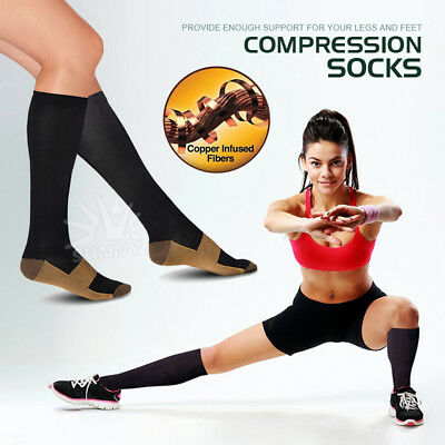 Compression Socks Anti Fatigue Infused Knee High Socks Ache Relief Stockings