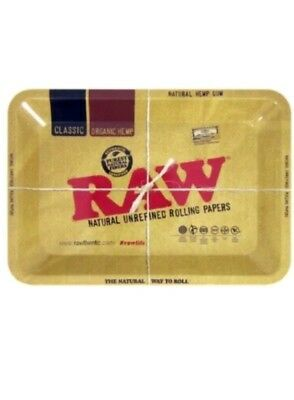 "RAW ""MINI"" TRAY Vintage Style METAL Rolling Tray 7.125"" x 4.875"""