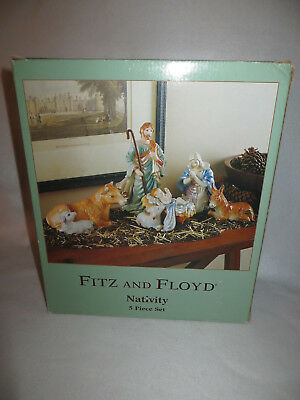 Fitz & Floyd  Nativity 5 Piece Boxed Set - 19/199 - Mib