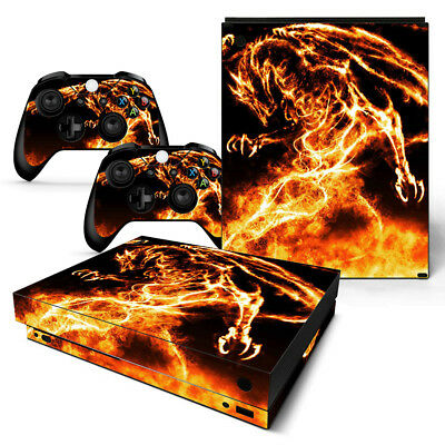 Blue Skull 2 Motif Video Games & Consoles Xbox One X Skin Design Foils Sticker Screen Protector Set