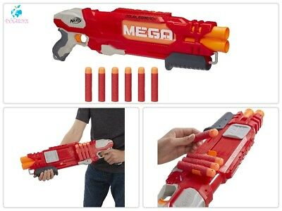 N-Strike Elite Double Barrel Blaster Pump With 6 Mega Whistler Darts Kids Toy