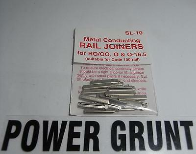 PECO SL-10 HO/OO, O &  O-16.5 METAL RAIL JOINERS (Power Grunt Hobbies)