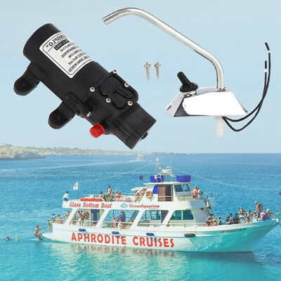 12V Water Pump 35PSI Self Priming Electric Galley Faucet Tap For Boat PWC Marine
