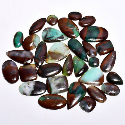 1186Cts 31 Pieces Lot Bio Chrysoprase Mix Shapes Cabochons Loose Gemstone Z6333