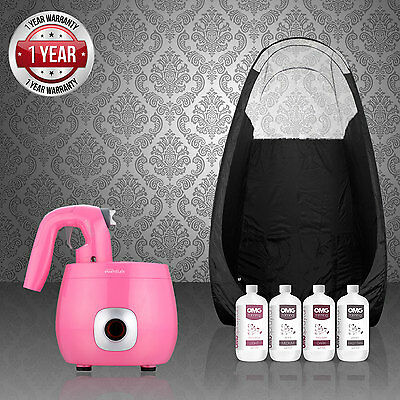 Tanning Essentials Rose Pro Très Spray Tan Kit Complet + Tente + Omg Solutions