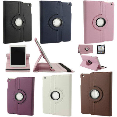 360° Rotate Smart Leather ipad Case Cover For Apple iPad Mini 1/2/3/4 Air/Pro AA
