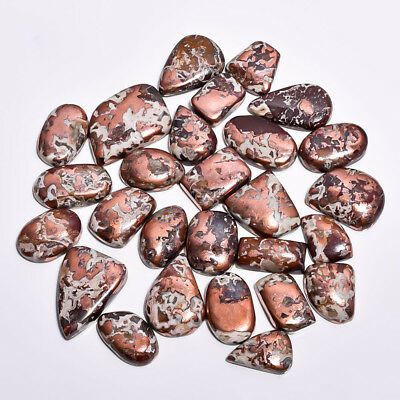 1955Cts 27 Pieces Lot Native Copper Agate Cabochons Loose Gemstone Z6300