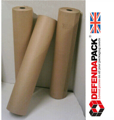 4 x 600mm 200m LONG 90gsm HEAVY DUTY IMITATION KRAFT BROWN WRAPPING PAPER ROLL