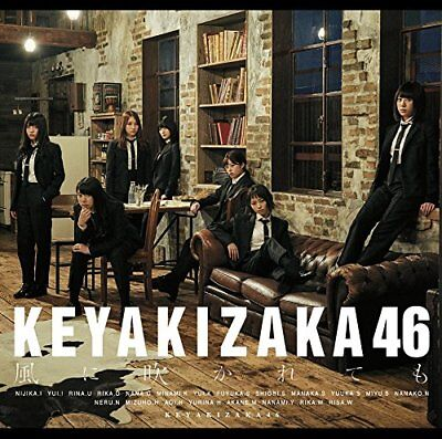 NEW KEYAKIZAKA46 EVEN if it's played by a wind  T-shirts size-XL