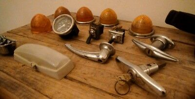 Job lot classic mini parts, lenses, switches, clock, Ashtray, handles, bundle