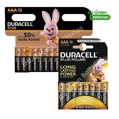 20 x Duracell AAA Plus Power Batteries - LR03, MN2400, MICRO.