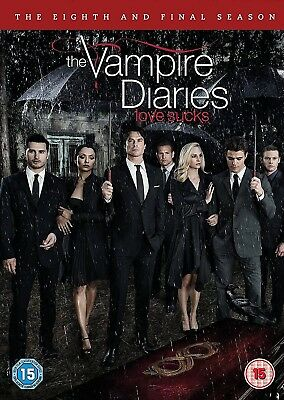THE VAMPIRE DIARIES Stagione 8 Serie Finale Completa BOX 3 DVD in Inglese Nuovo