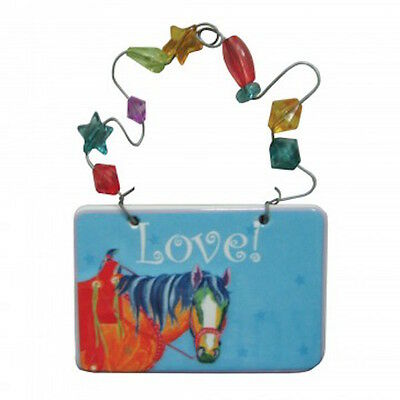 Western Horse  Love!  Ornament Small Plaque Ceramic Westland Lyndon Gaither  NIB