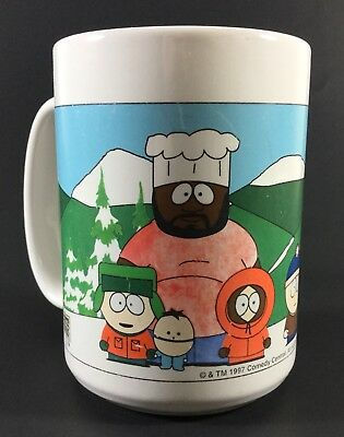 South Park The Whole Gang Coffee Cup Mug Comedy Central HTF 1997