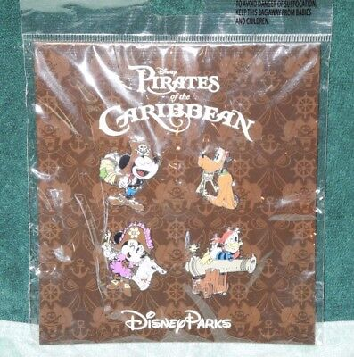 Disney Parks Pin Mickey & Friends Booster Set Pirates of the Caribbean  NEW