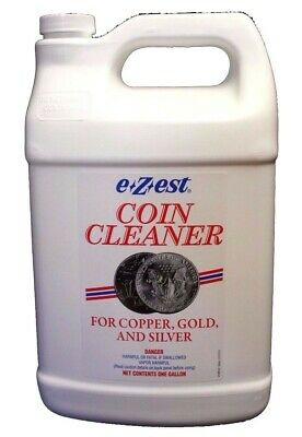 E Z est Ezest Easy Coin Jewelry Cleaner for Gold Silver & Copper Items Gallon