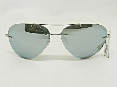8d21d253678 Ray-Ban Aviator Sunglasses LightRay Silver Mirror Silver Rb8058 003 30 59mm