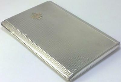 Vintage Silver Cigarette/Card Case or Wallet with Gold Royal Crown – 1936 (170g)