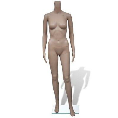 Full Body Female Mannequin Without Head Clothes Shop Dummy Display Glass Base