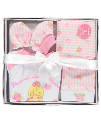 """Precious Moments Baby Girls' """"Little Blessings"""" 5-Piece Layette Gift Set"""