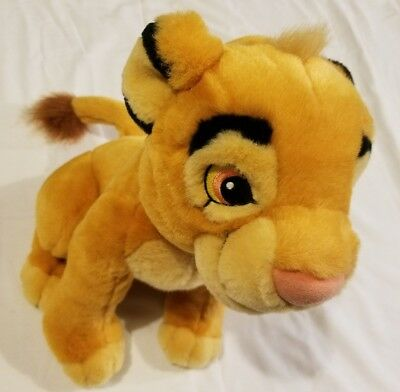"Disney Store Exclusive Lion King 13"" Young Simba Plush Stuffed Animal Toy Lion"