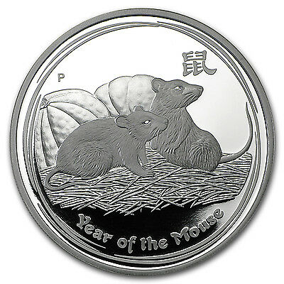 2008 Australia 1 oz Silver Year of the Mouse Proof (Series II) - SKU #59660