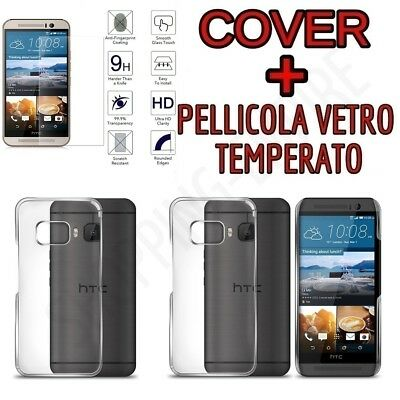 CUSTODIA COVER TPU per HTC ONE M9 + PELLICOLA VETRO TEMPERATO
