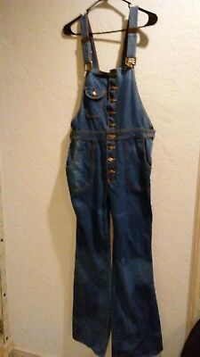 Vintage Original Women's Hang Ten Denim Overalls size 36L made in Hong Kong
