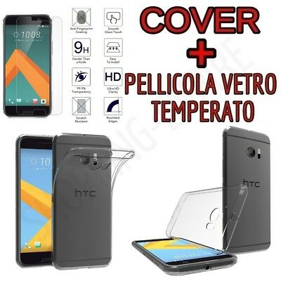 CUSTODIA COVER TPU per HTC ONE M10 + PELLICOLA VETRO TEMPERATO