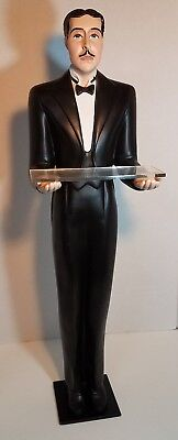 Waiter Old Man Butler statue 32 inches tall with removable tray