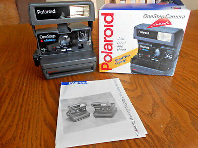 New Polaroid One Step Close Up 600 Instant Film Camera with Box • Tested