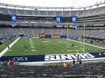 2 NY New York Giants PSL MetLife Stadium section 128 - aisle seats