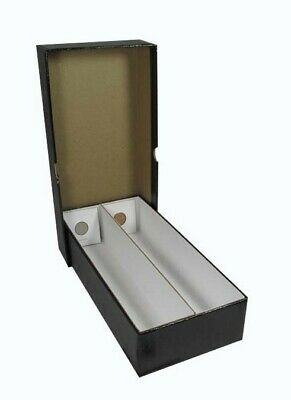 2X2 Coin Flips Box Heavy Duty Strong Collector 10 Inch Black Storage Free Post