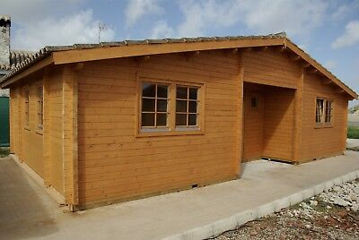 34ft x 20ft  4 room Log garden guest pool house vacation cabin building Kit