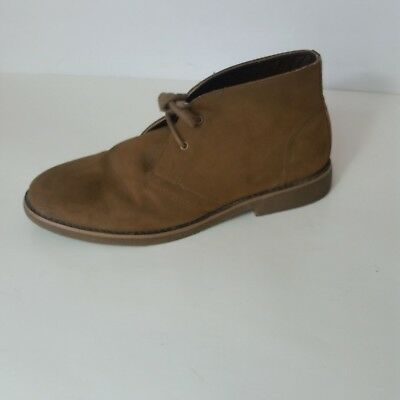 Perry Ellis America Brown Faux Suede Vegan Lace Ankle Chukka Boots Mens 11.5 aa3d6cf0d
