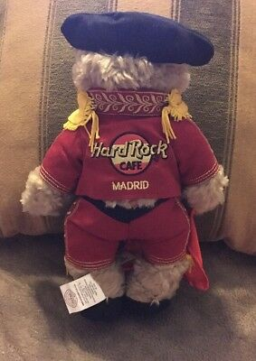 Hard Rock Herrington Madrid Collectible Bear 2005