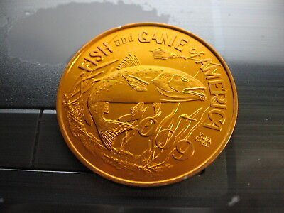 red fish drum buzzard 2009 Mardi Gras Doubloon Coin new orleans nola redfish