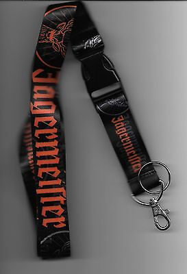 Black and Orange Jägermeister Lanyard with Clip for ID & detachable key ring