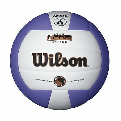 Wilson I-COR-Power Touch Volleyball-White/Purple White/Purple
