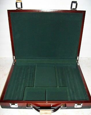 Wooden Poker Chip Carrying Case Michelob AmberBock Beer 2005 WPT World Tour