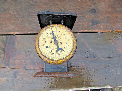Antique American Family Kitchen Scale 24 Pound HY. C. Weber & CO pat. OCT 1912
