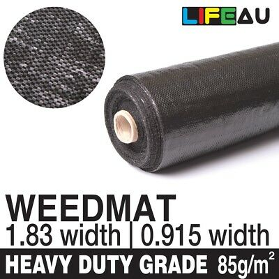 0.915m 1.83m 3.62m Weedmat Weed Control Mat Woven Fabric 85gsm 30m/50m/70m/100m