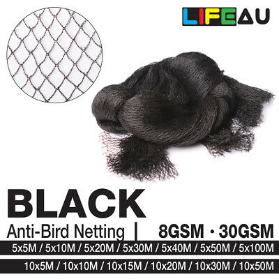 BLACK Anti Bird Netting Commercial Pest Net 5M, 10M Wide 5M - 100M