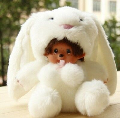 New Kawaii Fashion Monchhichi White Plush Doll Cute Toy Kiki Doll Gift