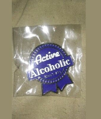 Unopened Pabst Blue Ribbon Rare Collectable PBR Beer Hat Pin (Only 50 Ever Made)