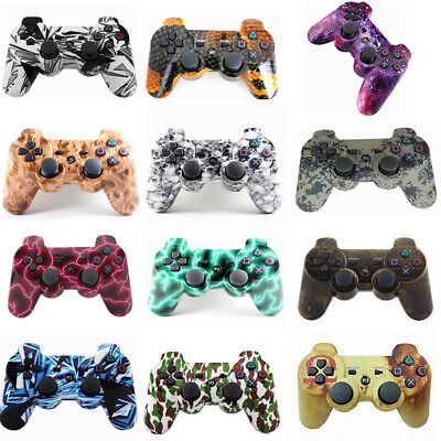 Wireless Bluetooth Dual Vibration Painted Gamepad Controller For PlayStation 3