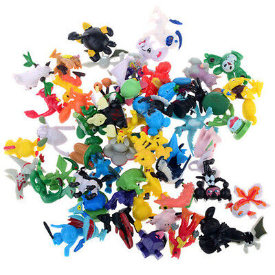 144Pcs Pokemon Mini 2-3cm Action Figures Pokémon Go Monster Toy Set Gift Random