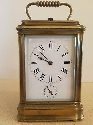 Henry Jacot Gorge cased repeater carriage clock for light restoration