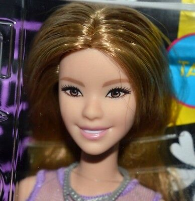 Nib-2016 Fashionistas Tall Barbie Doll-#53 -Lovely In Lilac- Carnival Face Mold!