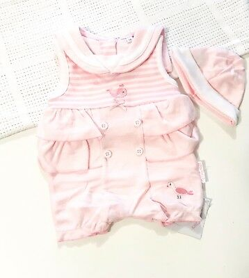 Traditional Spanish Style Baby Girls Smocked Summer Romper Suit in Pink